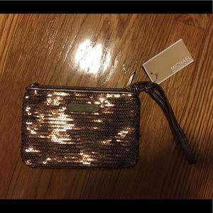 Authentic Michael Kors Sequin Wristlet